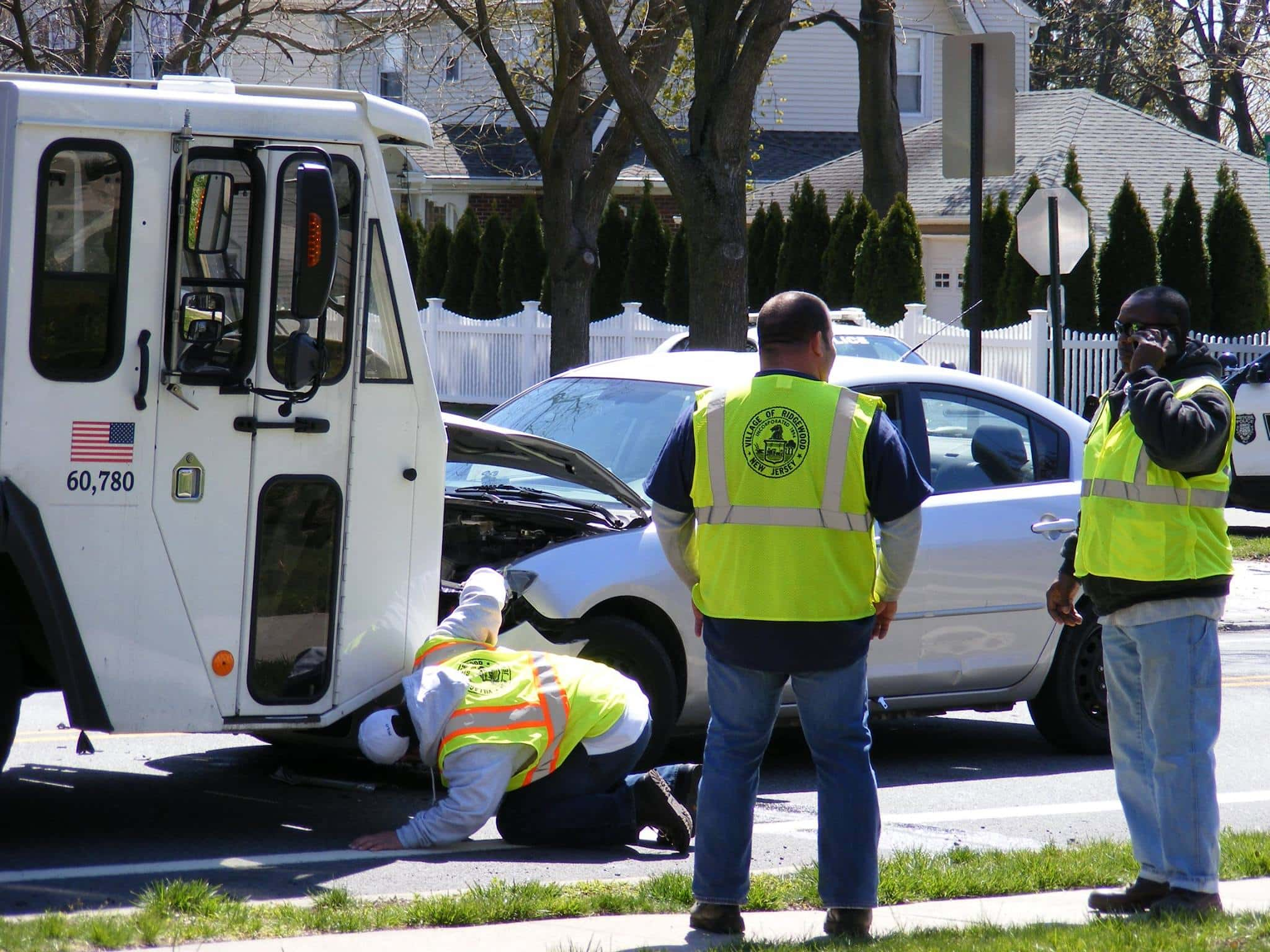 Village of Ridgewood Sanitation truck struck