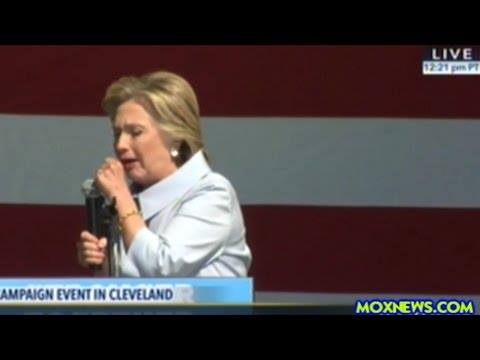 Hillary Clinton Begins Labor Day Rally With Coughing Fit!