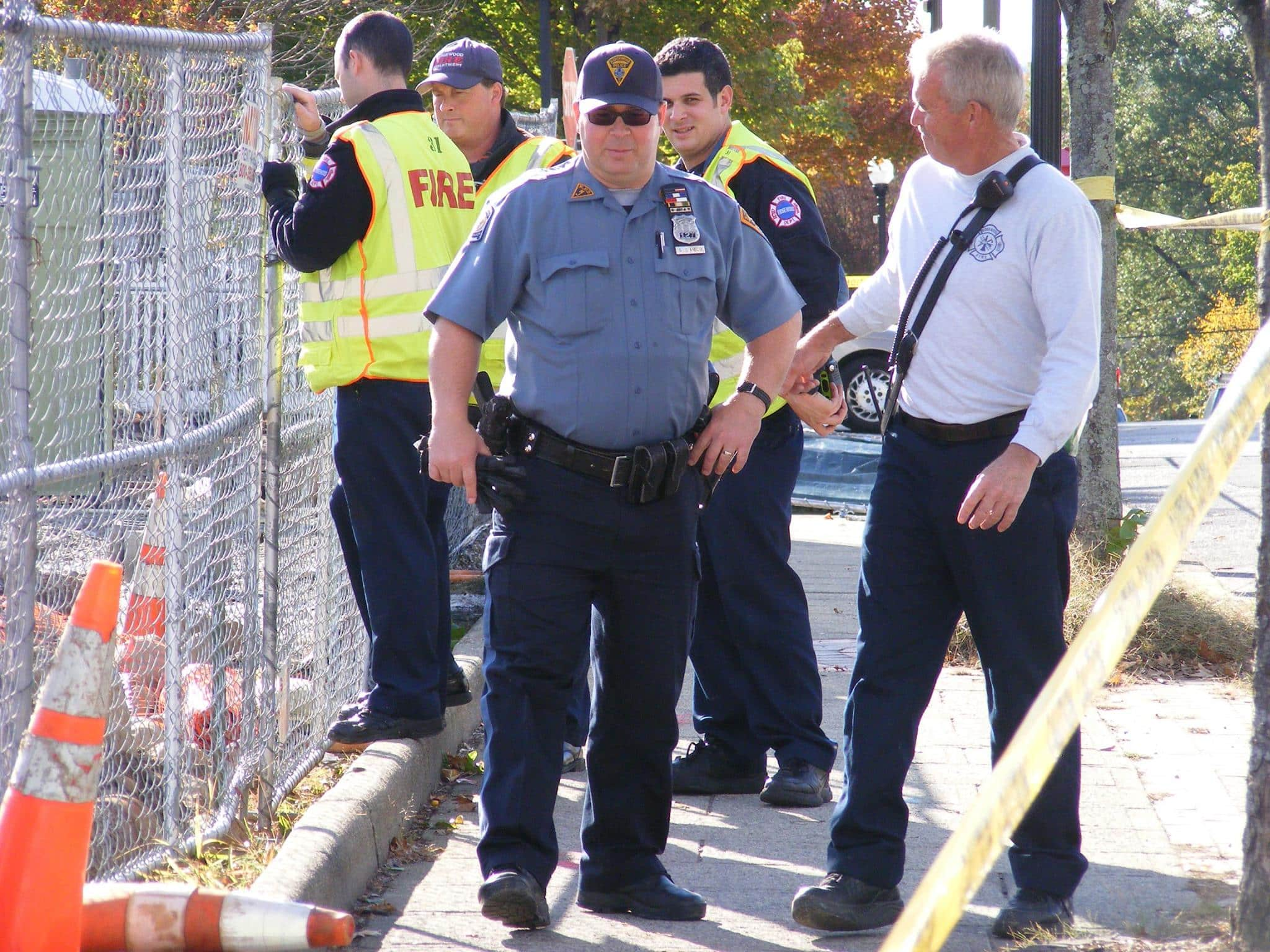 High Winds Toppled Fence at Construction Site In Ridgewood