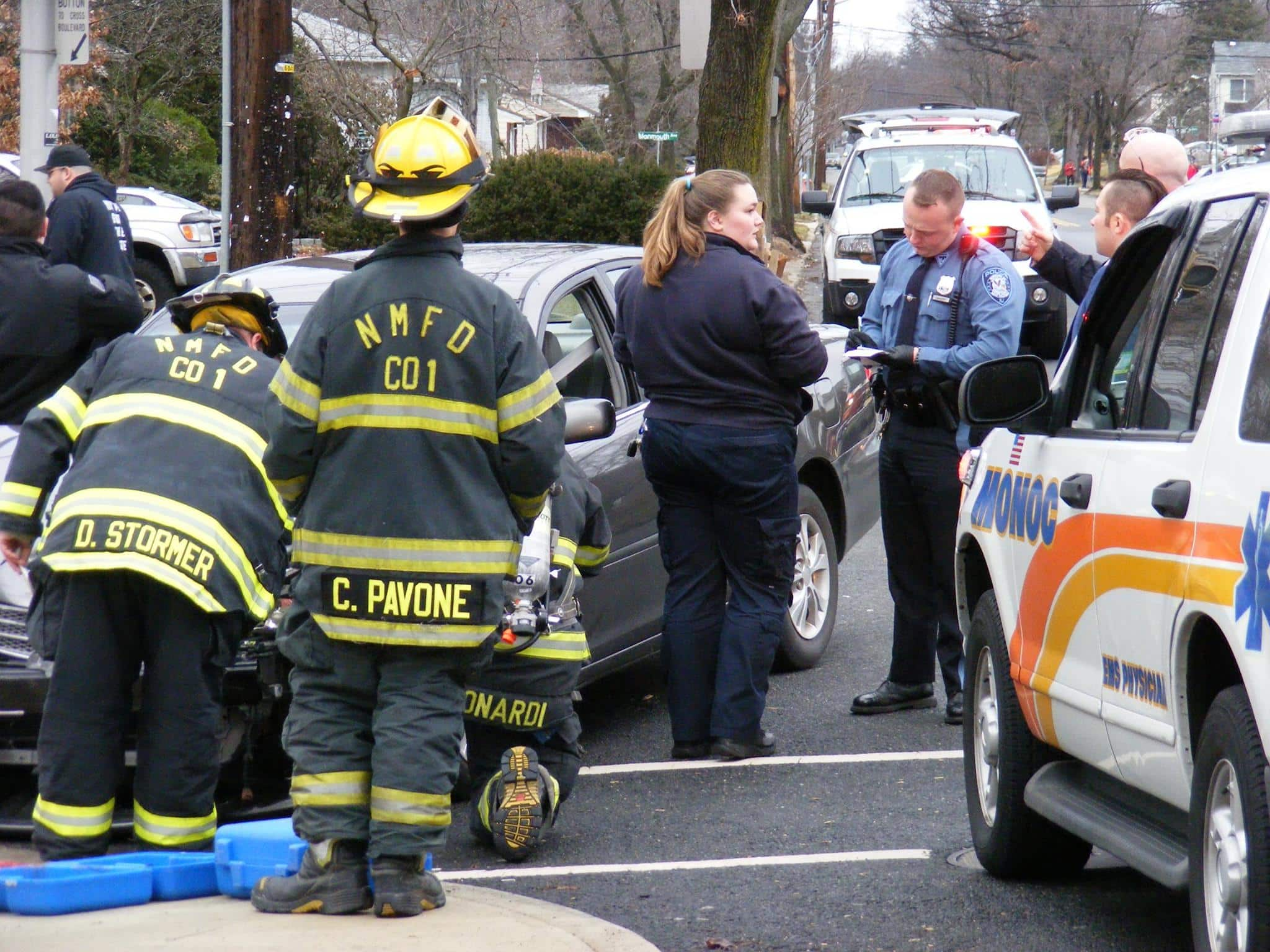 Rollover Collision in New Milford at Intersection of Boulevard and Henley Avenue