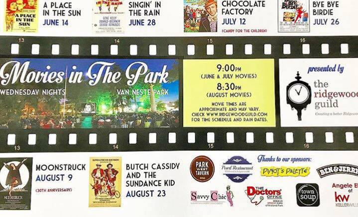 Ridgewood Guild's 2017 Movies in the Park!