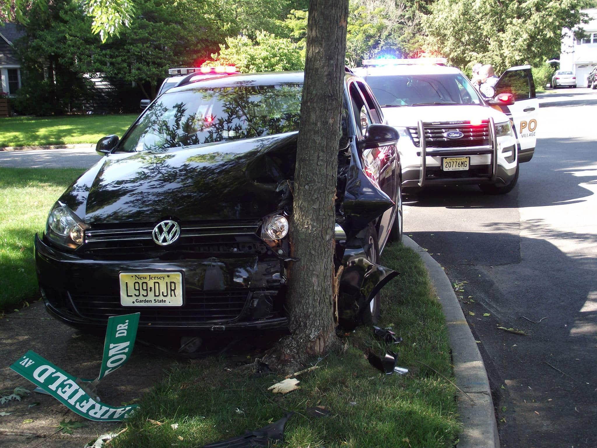 Ridgewood Police tree crash