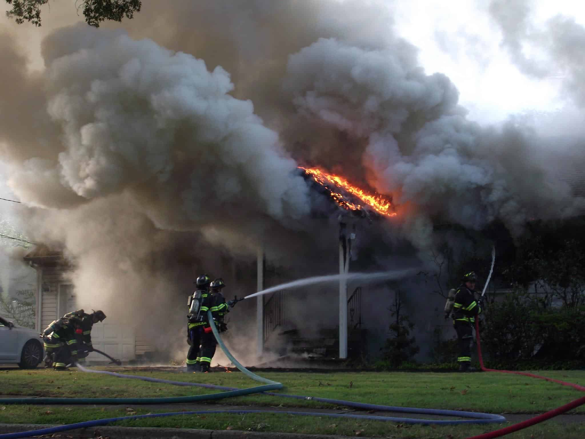 No Injuries at Major House Fire on Alden Road in Paramus