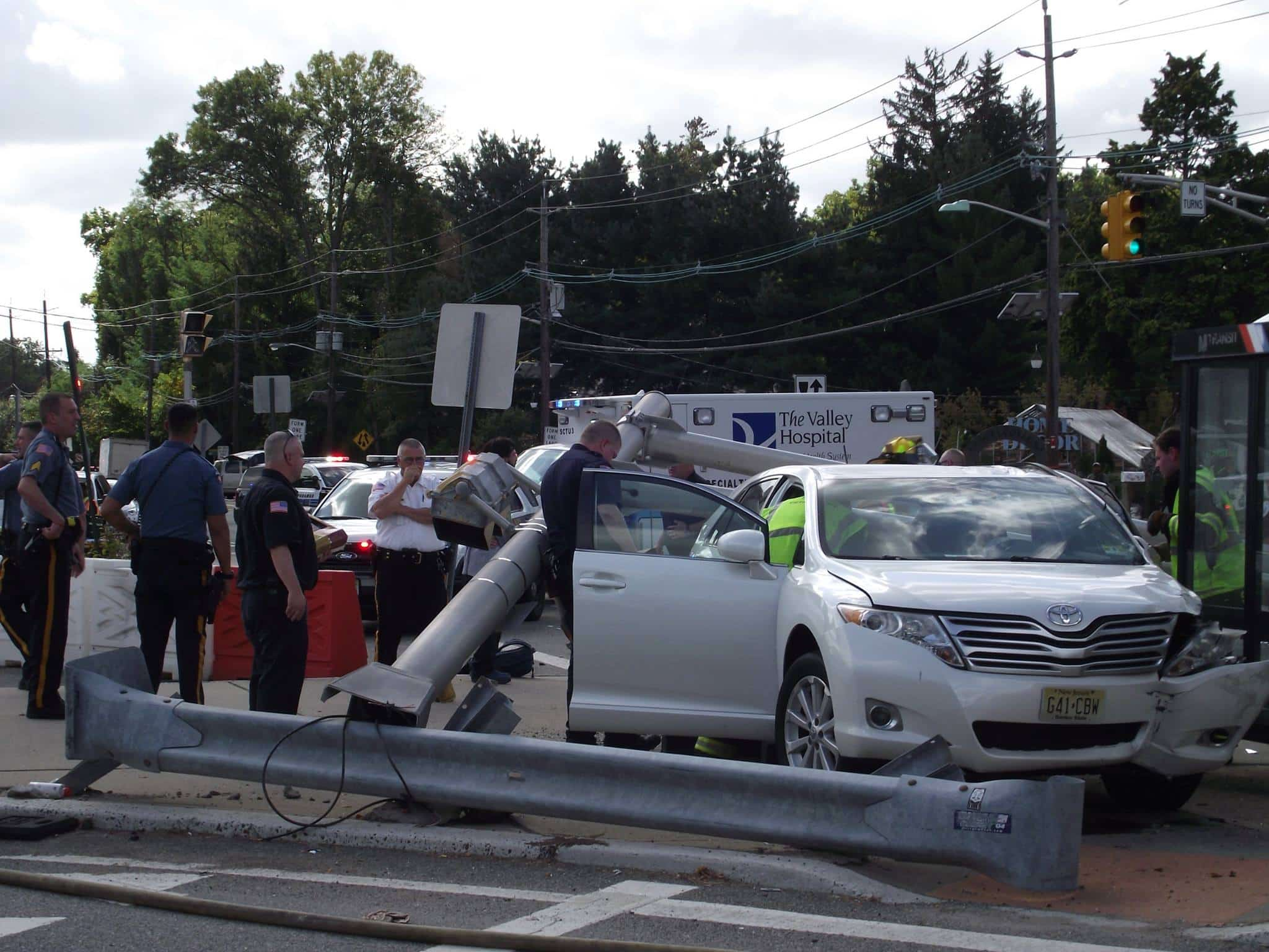 """""""Jaws of Life"""" Deployed at Bergen Community College's Paramus Campus after Collision"""