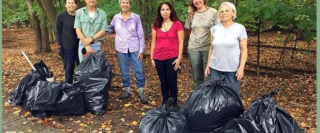 Ridgewood Wildscape Association and Volunteers Clean Up Grove Park!