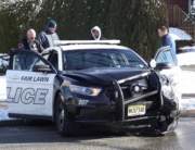Fair Lawn Police officer injured in a motor vehicle crash while responding to an emergency road rage call